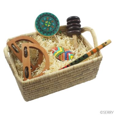Have a little one who likes to make noise? We have a variety of musical instruments in stock (styles and colors vary).  Fair Trade. /  $12-$36