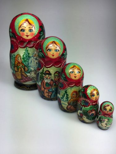 A gift that keeps on giving! These traditional hand-painted Russian nesting dolls are a quintessential holiday treasure. / $29.95-$90