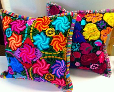 Add a pop of color to your home with these gorgeous pillows. The pillow covers are handmade by Mayan women in Guatemala (pillow insert is included). / $64