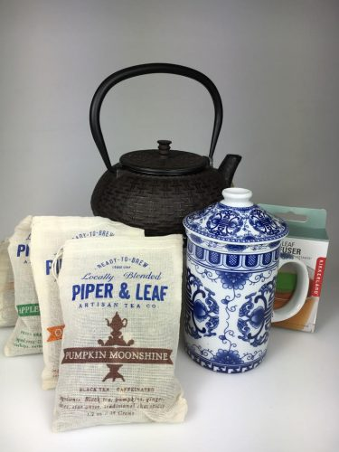 Tea time! Grab these items and you'll have everything you need to brew your loose leaf tea (except the water). Piper and Leaf tea, blended in Huntsville, uses as many local ingredients as possible, straight from the garden, farm, forest, and briar patch. / Tea gifts range from $5-$64.