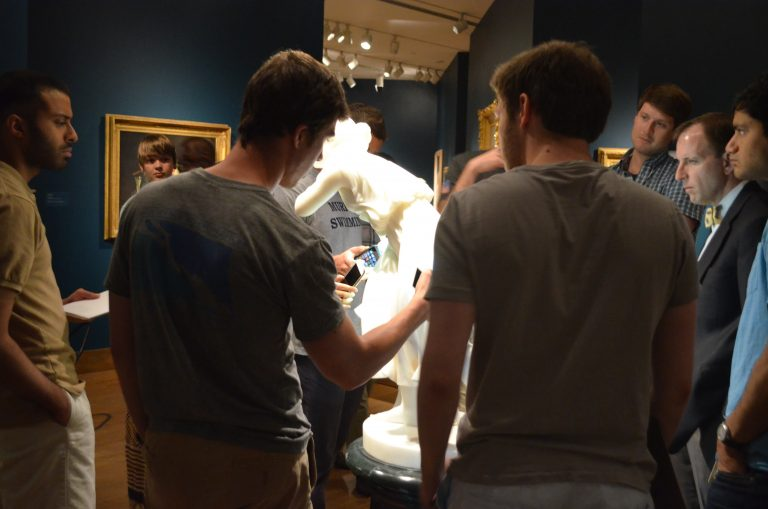 UAB medical students visit the Museum as part of the special studies course, Art in Medicine: Using the Visual Arts to Improve Observational Skills.