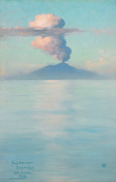 Charles Caryl Coleman's painting of Mount Vesuvius.