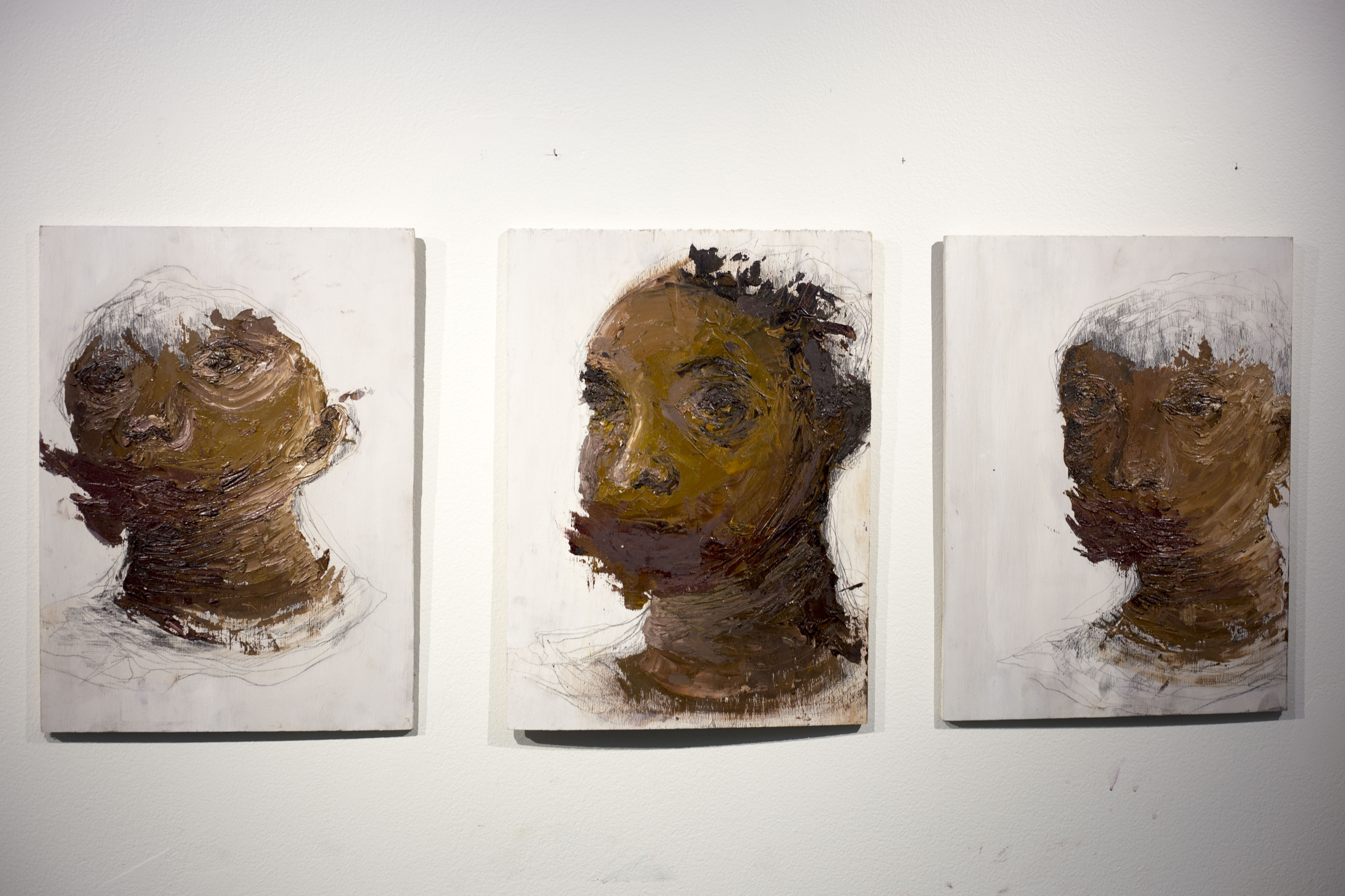 Triptych from student exhibition.