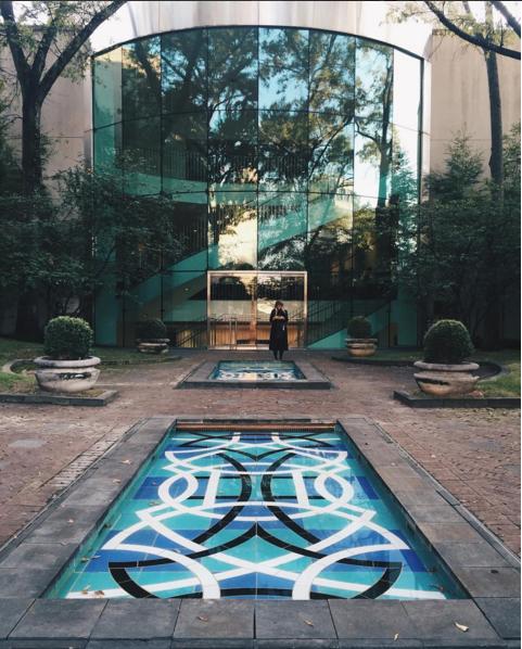 Visitor's instagram post in sculpture garden.