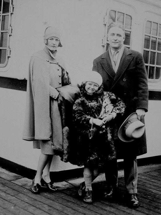 Zelda, Scottie, and F. Scott Fitzgerald, 1928.