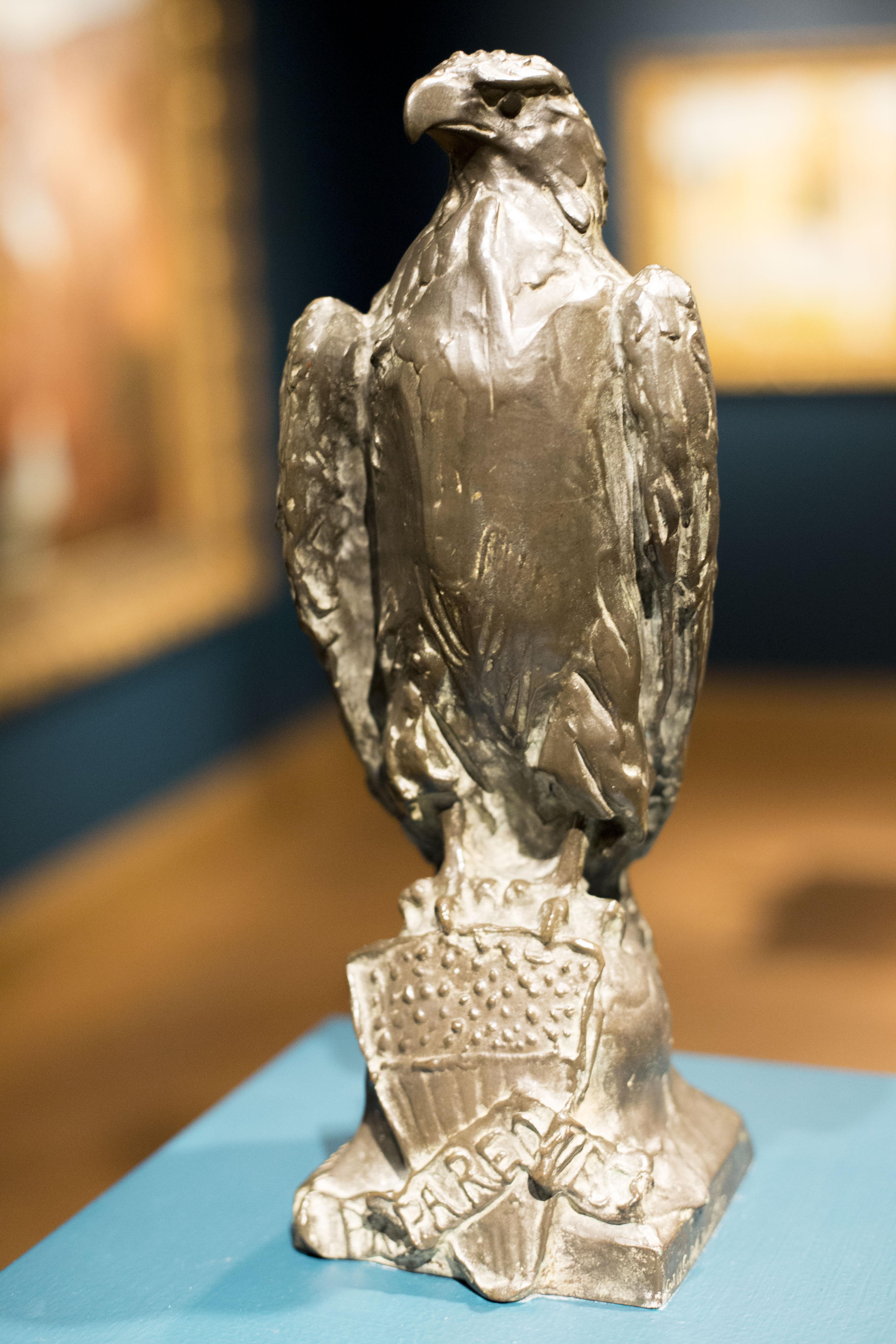 Paul Wayland Bartlett (American, 1865-1925), Eagle of Preparedness, 1916. Bronze. 13 x 4 1/2 x 3 3/4 in. Collection of Birmingham Museum of Art; Gift of Mrs. Armistead Peter III 1958.37