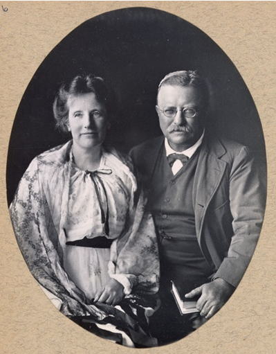Theodore and Edith Roosevelt. Photo from the Theodore Roosevelt Center at Dickinson State University.