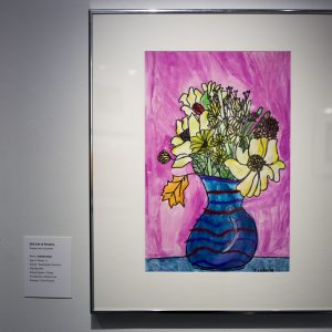 Title: Still Life of Flowers Medium: Tempera & Oil Pastels Name: Isabella Baur Age: 9 Grade: 3 School: Westminster School at Oak Mountain School System: Private Art Instructor: Cathye Price Principal: Chris Knowles