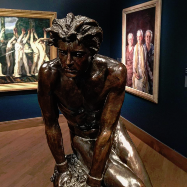 Helen Gertrude Sahler (American, 1877 – 1950), Spirit of Revolt, 1915; copyright 1917. Bronze. Cast by Roman Bronze Works, Brooklyn, NY (est. 1899). Collection of the Art Fund, Inc. at the Birmingham Museum of Art; Gift of Mr. Bob Scharfenstein in loving memory of his partner and husband of 51 years, Dr. Bill Mason