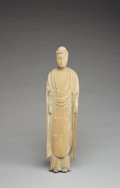 Japan, Fujiwara period (898–1185), Amida Buddha, wood; The Weldon Collection T.2014.347