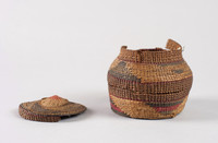 Covered Basket, Tlingit people, Native American, spruce root