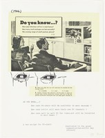 Untitled, Nam June Paik, Published by Experiments in Art and Technology, Inc., screenprint