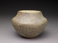 Vessel, Lucy M. Lewis, Native American, fired clay and slip