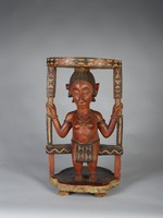 Stool (do-tshom), Baga people, Guinea, African, wood, polychrome