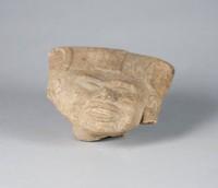 Head, Veracruz culture, Pre-Columbian, earthenware