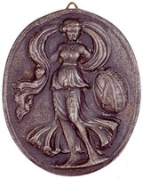 Obverse: Female figure with banner. Reverse is blank.