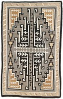 Rug (Two Gray Hills style), Diné (Navajo) people, Southwestern Region, Native American, wool