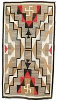 Rug (Early Crystal style), Diné (Navajo) people, Southwestern Region, Native American, wool
