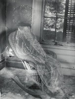 The House of the Past, Clarence John Laughlin, gelatin silver print mounted to illustration board