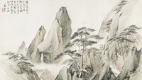 Layered Verdure, the Spring Mountains, Zheng Chang, ink and color on paper