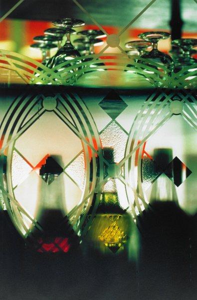 Untitled (Bottles, Glasses) Paris, 1988, Ralph Gibson, Portfolio published by Double Elephant Editions, Ltd., Type C color print