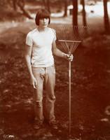 boy; rake