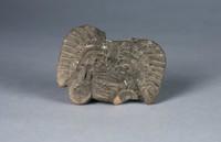 Head Fragment, Inca culture, Pre-Columbian, ceramic