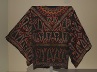 Man's Embroidered Robe or Tunic, Bamum people, Republic of Cameroon, African, cotton textile, embroidery thread and dyes