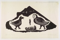 Inuit print process of stonecutting