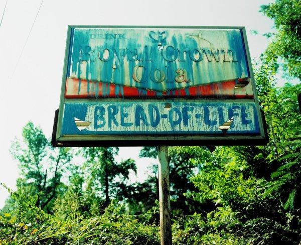 """Bread-of-Life,"" Near Tuscaloosa, Alabama, William Christenberry, chromogenic print"