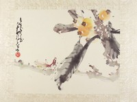 Loquat and Insect, Zhao Shao'ang, ink and color on paper