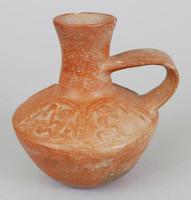 Vessel with Handle, Moche culture, Pre-Columbian, ceramic
