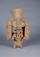 Standing Priest, Nopiloa culture, Pre-Columbian, fired clay