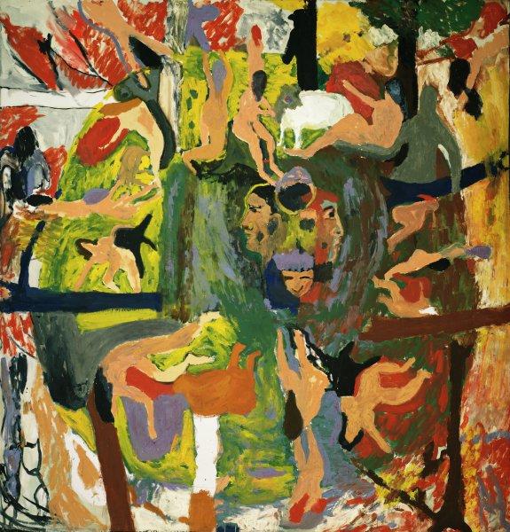 Ornette, Bob Thompson, oil on canvas