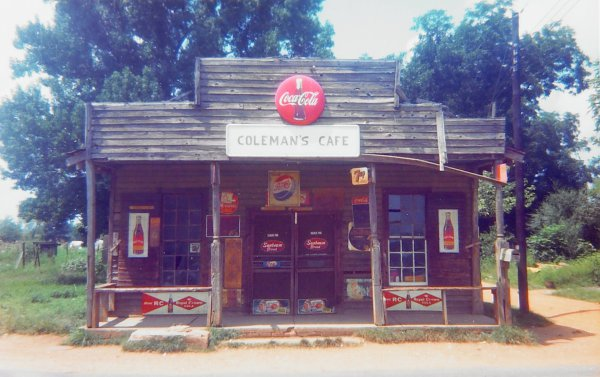Coleman's Cafe, Greensboro, Alabama, William Christenberry, chromogenic print