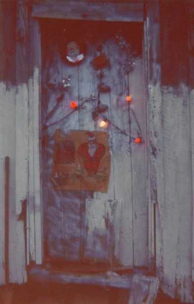 Door of the House at Christmas Time, Greensboro, Alabama, William Christenberry, chromogenic print