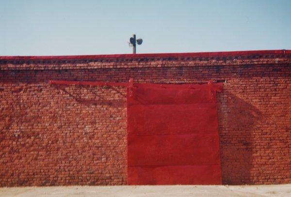 Warehouse Door, Newbern, Alabama, December 1997, William Christenberry, chromogenic print