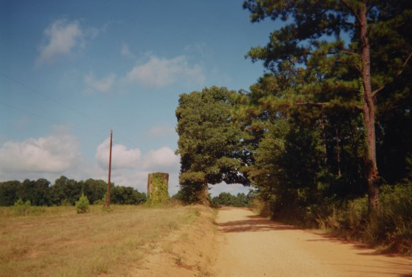 Silo and Landscape, near Moundville, Alabama, 1989, William Christenberry, chromogenic print