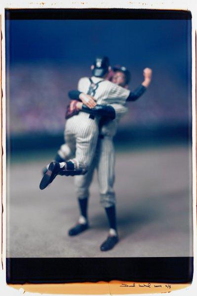 "Untitled, from the series ""Baseball"" [Don Larsen and Yogi Berra], David Levinthal, Polaroid (Polacolor ER Land Film print)"