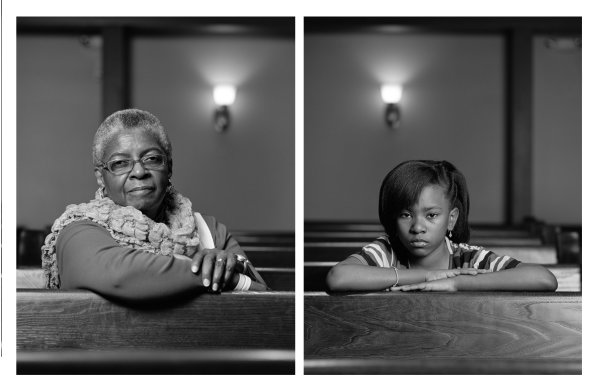 Unframed diptych, two separate 40X32 inch photographs