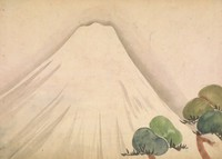 Album leaf with painting of Mount Fuji