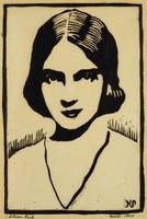 Lilian Gish, M. R. Hubbert Smith, linocut