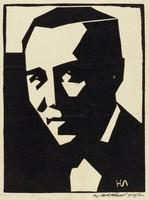 Unidentified Actor, M. R. Hubbert Smith, linocut