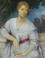 Portrait of the Artist's Niece, Rose Norman Tarver (1891-1965), Clara Weaver Parrish, oil on canvas