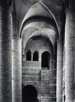 Interior of a Gothic cathedral.