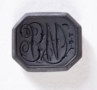 """Octagonal black basalt intaglio or cypher, """"B W"""""""