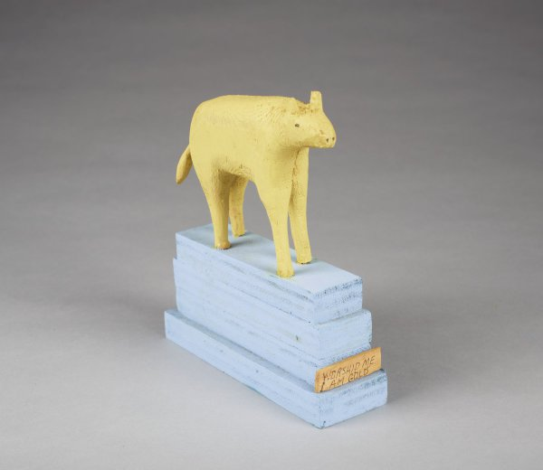 The Golden Calf, Fred Webster, painted wood