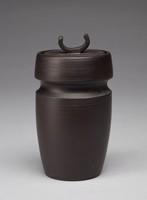 Covered Jar, David Puxley, Wedgwood, black basalt