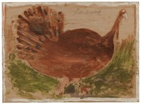 Untitled (Turkey), Jimmy Lee Sudduth, paint and mud on wood board