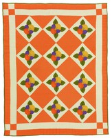 Pansy quilt, dated 1975